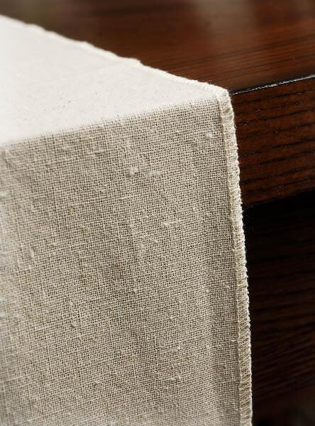 natural linen table runner 12 5 x 120