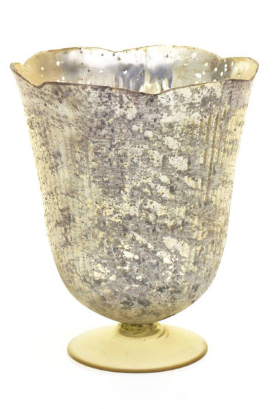 antique gold neeta vase 8 25in