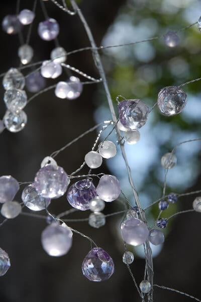 touch of lavender crystal garland 4ft