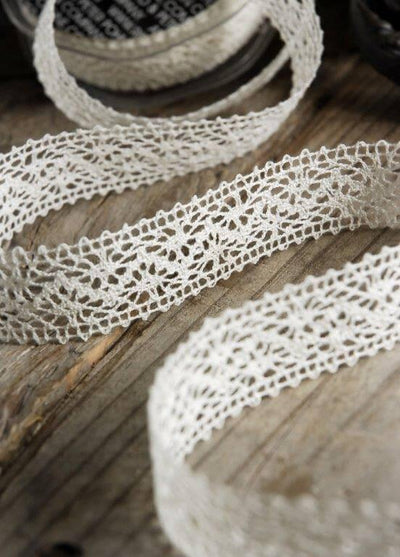 lobeck lace ivory 1in