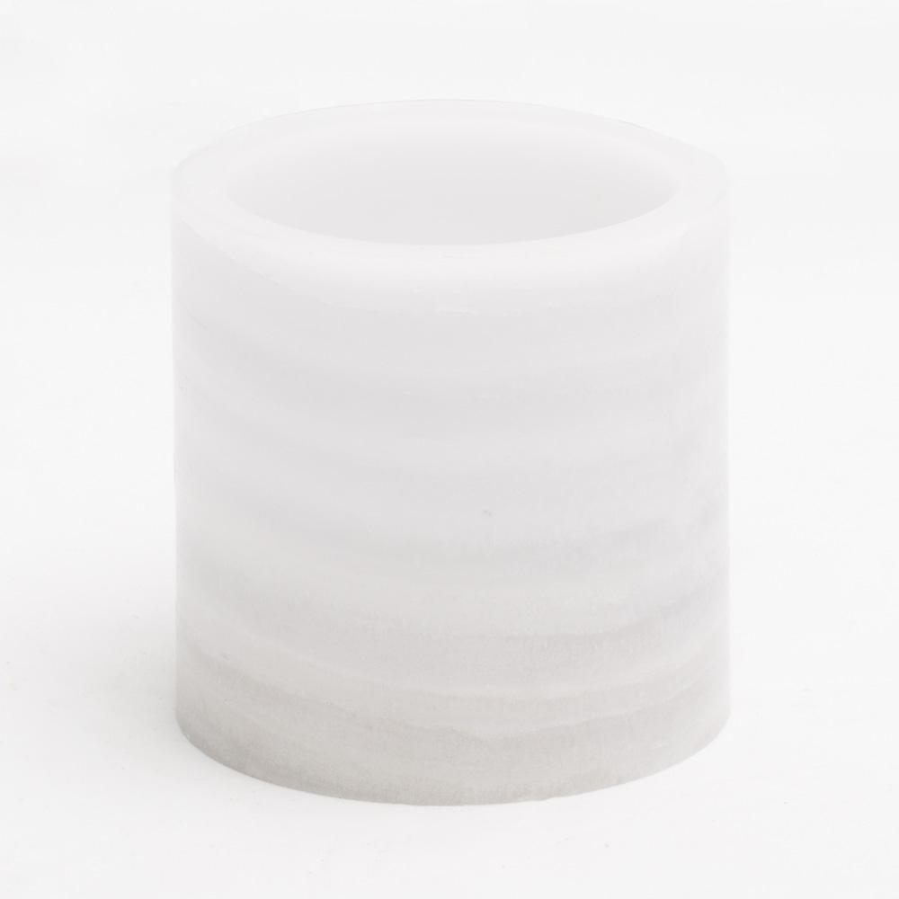 richland flameless led pillar candle marble 4 x 4
