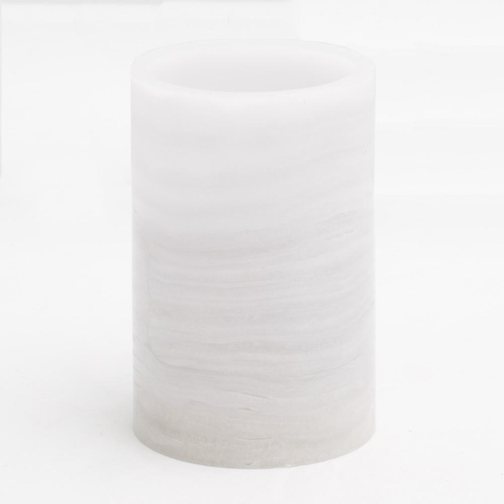 richland flameless led pillar candle marble 4 x 6 set of 12