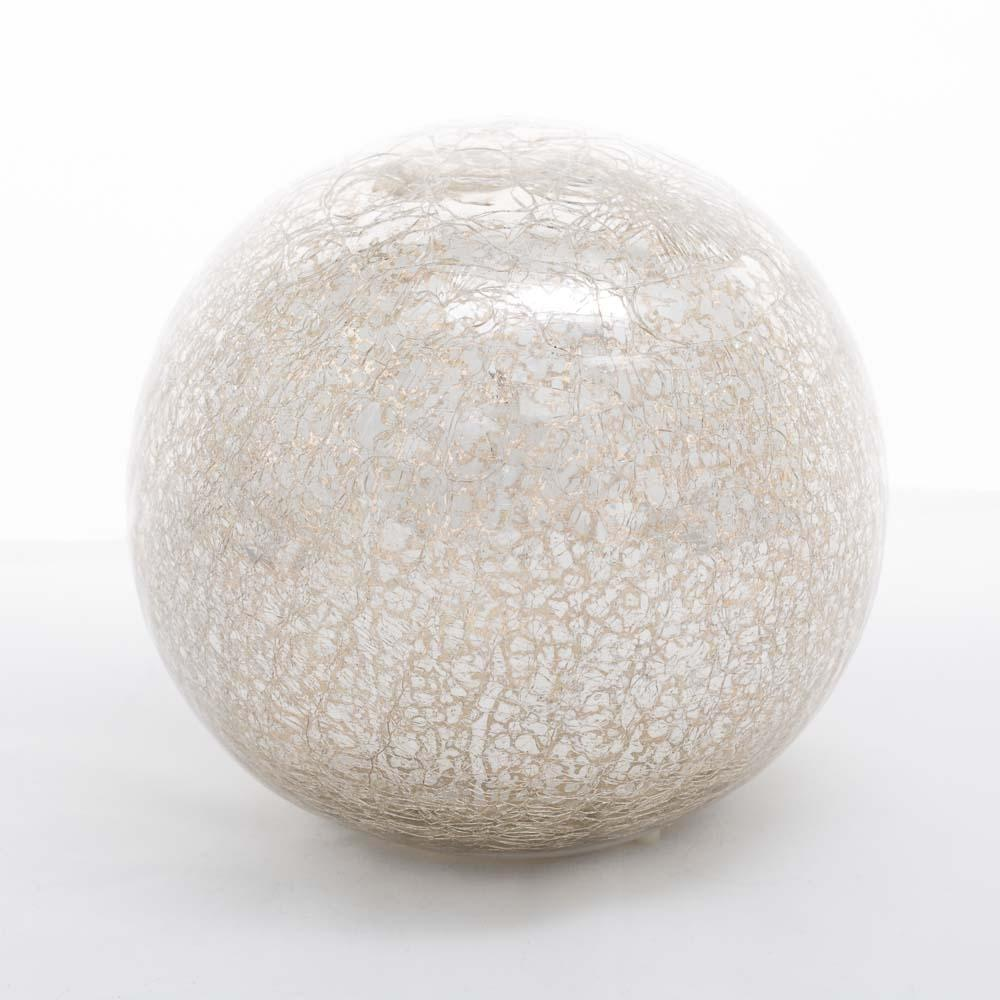 richland mercury glass sphere with led lights 6