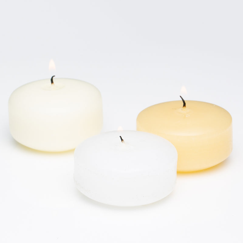"Richland Floating Candles 3"" Ivory Set of 24"