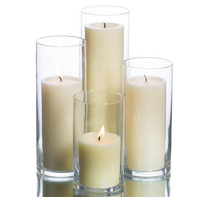 richland pillar candles eastland cylinder holders set of 4