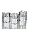 richland square glass taper candle holder 2 5 set of 6