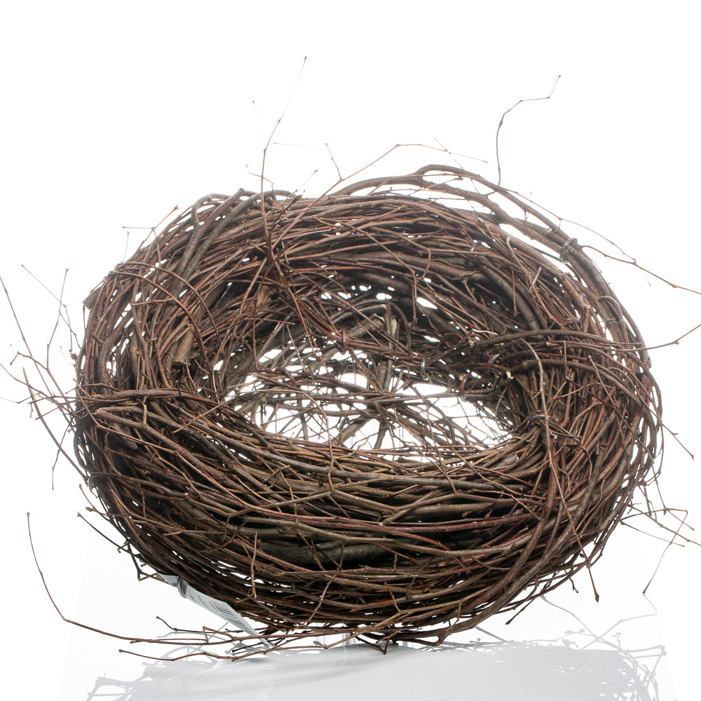 grapevine twig 10 bird nest wreath