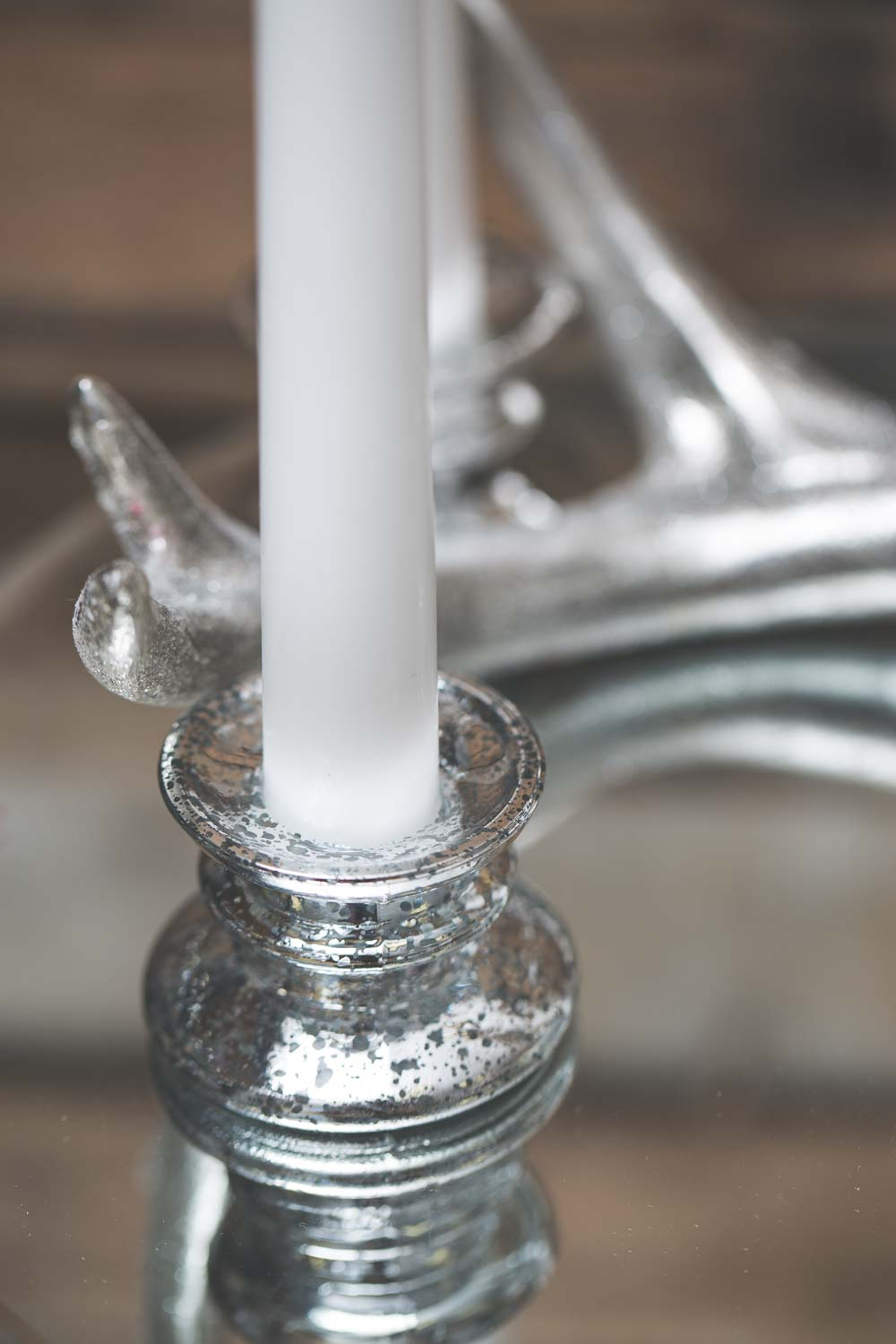 "Richland Athena Taper Candle Holder & Richland 10"" Taper Candles Set of 20"