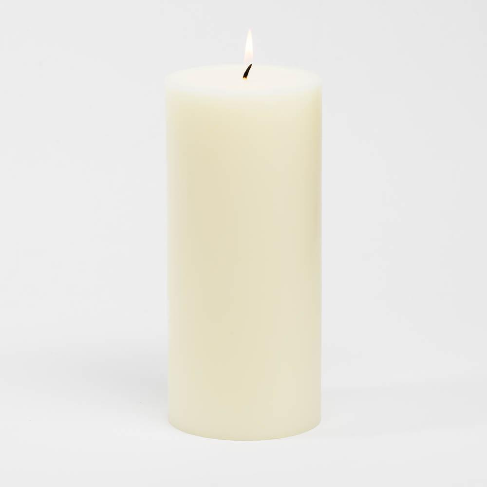 richland 4 x 9 ivory pillar candles set of 6