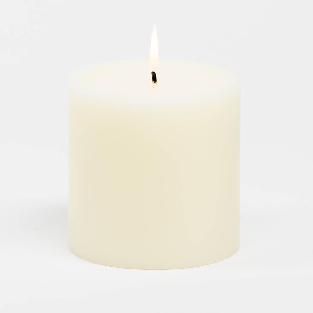 richland 4 x 4 ivory pillar candle
