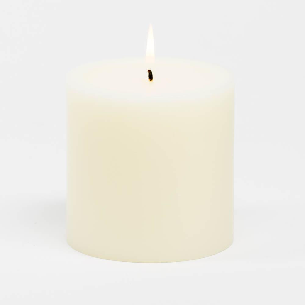 richland 4 x 4 ivory pillar candles set of 6
