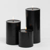 "Richland Pillar Candles 4 x4"", 4""x6"" & 4""x9 Black Set of 18"