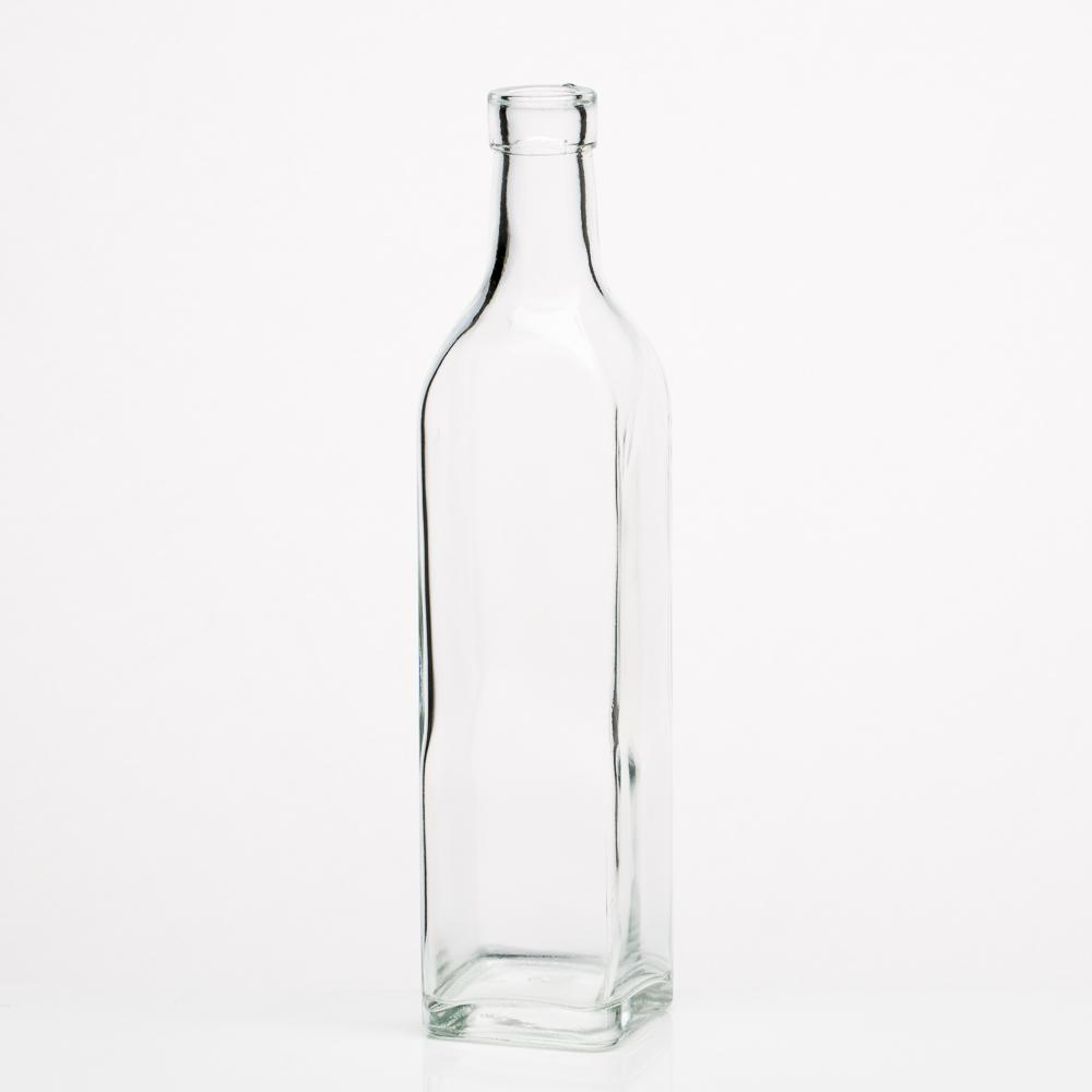 richland glass square bottle set of 24