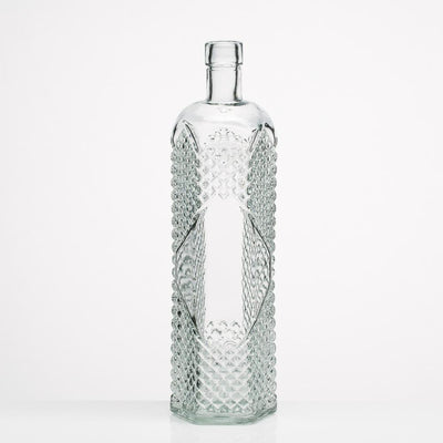 richland glass textured bottle set of 6