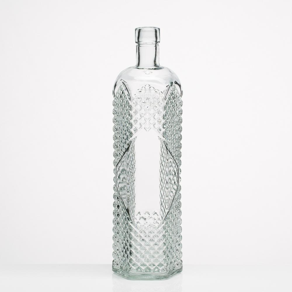 richland glass textured bottle