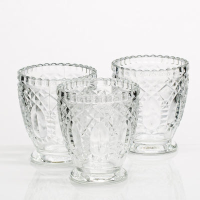 richland glass textured votive holder set of 6