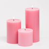 "Richland Pillar Candles 4 x4"", 4""x6"" & 4""x9 Pink Set of 3"