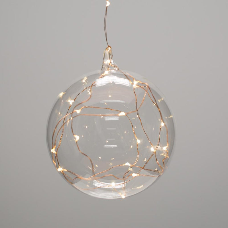 richland clear hanging led lighted glass balls 5 5 set of 6