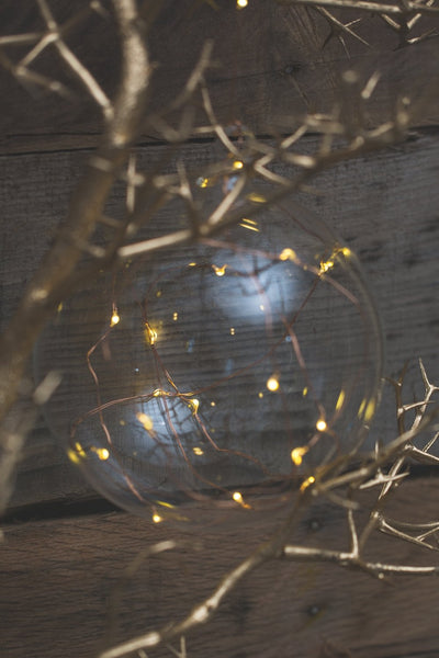 Richland Clear Hanging LED Lighted Glass Balls 5.5""