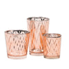 richland rose gold chevron glass holder large set of 48