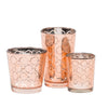richland rose gold hexagonal glass holder small set of 12