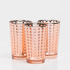Richland Rose Gold Dotted Glass Holder - Large Set of 6