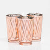 Richland Rose Gold Chevron Glass Holder - Large Set of 48