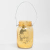 Richland Small Mercury Hanging Mason Jar with Clear Bead Handle - Amber Gold Set of 36