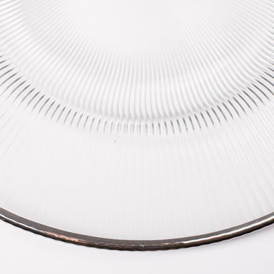 richland 13 silver rim glass charger plate