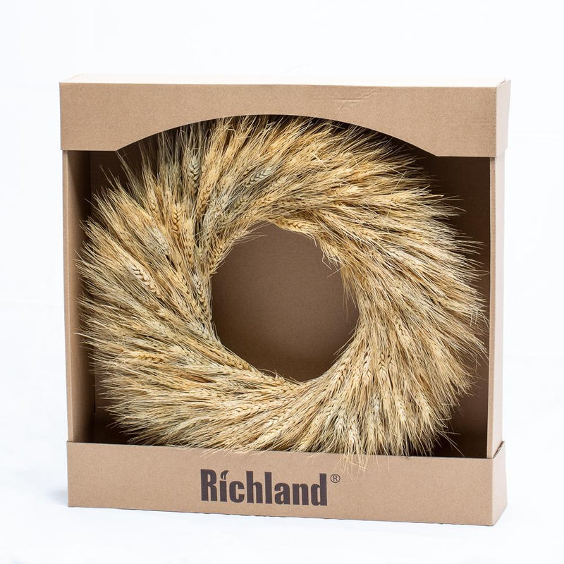 richland preserved wheat wreath 17