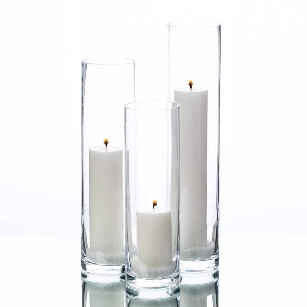 richland pillar candles sloan cylinder vases set of 3