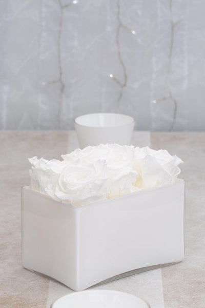 Richland Marlee Square Vase White