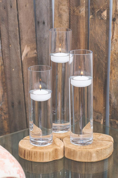 richland floating candles sloan cylinder vases set of 3