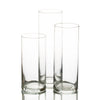 "Eastland Cylinder Floating Candle Holders 7.5"" , 9"" & 10.5"" Set of 3"
