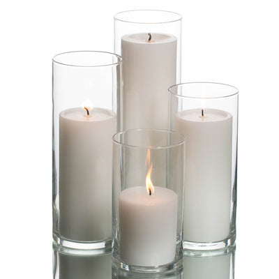 Richland Pillar Candles & Eastland Cylinder Holders Set of 4