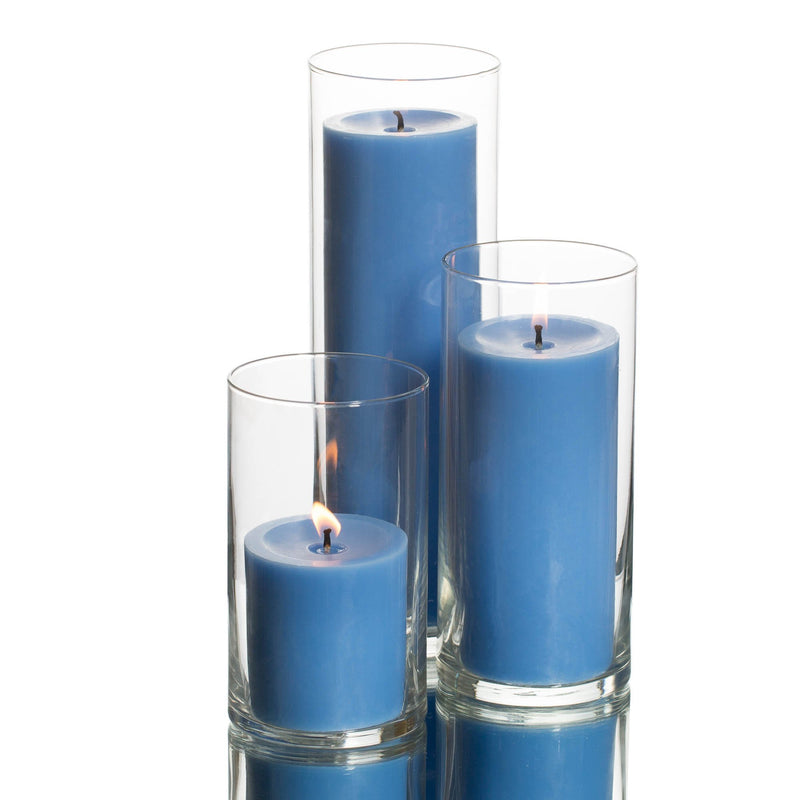 pillar candles cylinder holders set 03