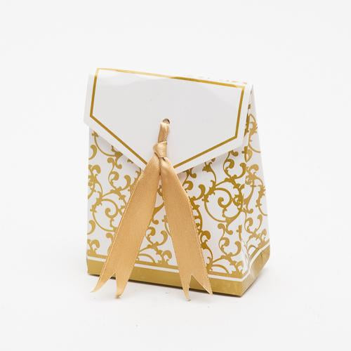 Richland Classy Favor Bag, with Gold Satin Ribbon Set of 100