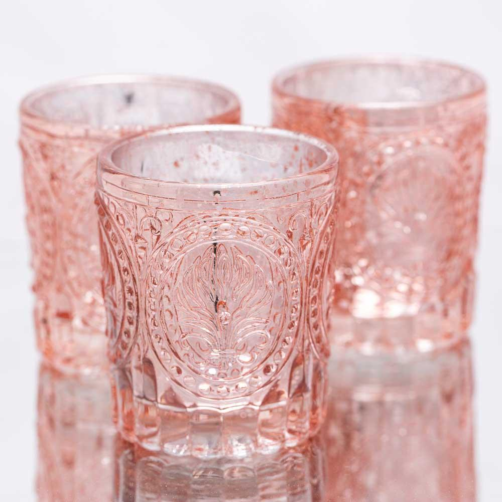richland mercury votive holders primrose rose gold set of 48