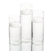 eastland cylinder floating candle holders 6 7 5 10 5 set of 3