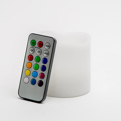 richland led remote control wavy top pillar candle white 3x3 set of 24