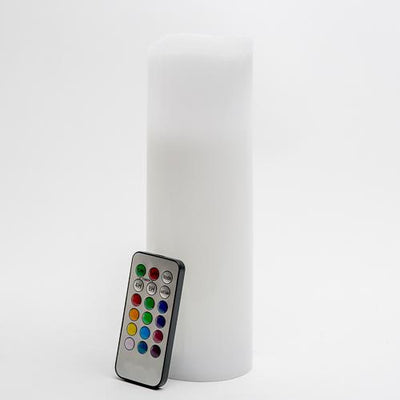 richland led remote control wavy top pillar candle white 3x9 set of 3