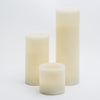 richland flameless led pillar candles 3 x3 3 x6 3 x9 ivory set of 3