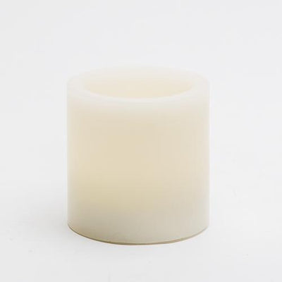 richland flameless led pillar candles 3 x3 ivory set of 6