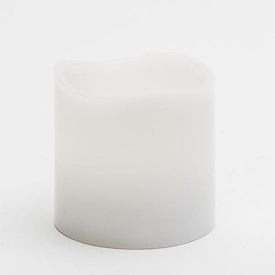 richland led wavy top pillar candle white 3x3 set of 6