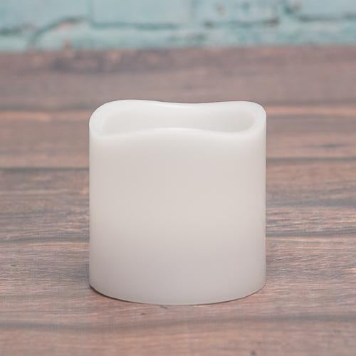 richland led wavy top pillar candle white 3x3