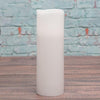"Richland Flameless LED Wavy Top Pillar Candle White 3""x9"" Set of 6"