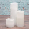 richland led wavy top pillar candle white 3x9 set of 6