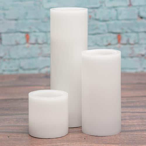 richland flameless led pillar candles 3 x6 white set of 6