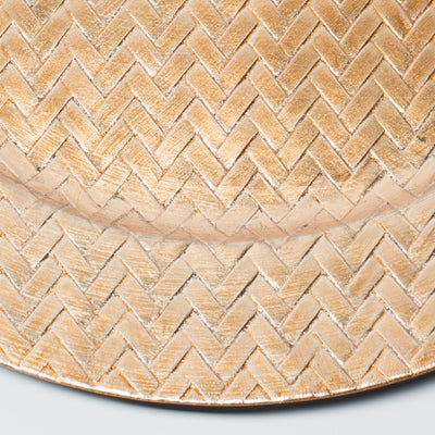 richland 13 woven charger plate gold
