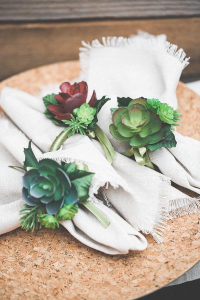 Richland Delilah Succulent Napkin Rings Set of 36